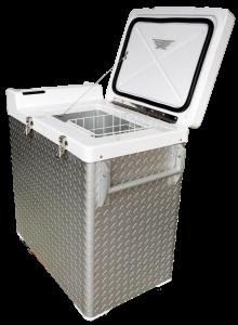 100-Liter vaccine refrigerator basket inside
